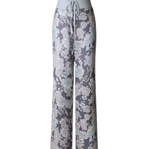 Silky floral lounge pants